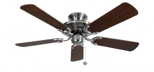 "Fantasia Mayfair 42"" Stainless Steel with Dark Oak Ceiling Fan 115441"